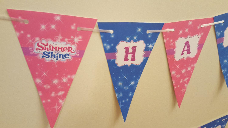 Shimmer and Shine banner | Shimmer and Shine Birthday banner