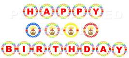Owl birthday banner in chevron print - $5.00