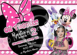 Minnie Mouse invitations in pink or red - $14.99