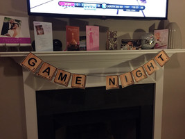 Game Night banner   Scrabble style Game Night banner - $5.00