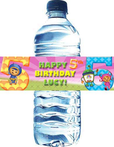 Team Umizoomi Water Bottle Labels: Downloadable & Printable