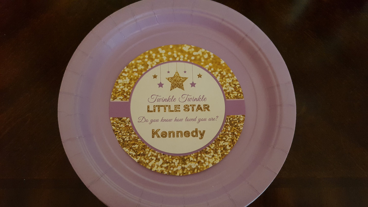 Twinkle Twinkle Little Star plates and cups | baby shower plates | birthday plat