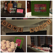 SALE: Adult Game Night party pack with banner, water bottle labels, sign... - $14.99