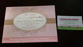 Pink and gold baby shower invitation - $8.99