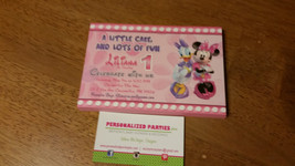 Minnie Mouse Birthday Party Invitation: printed and shipped - $20.00