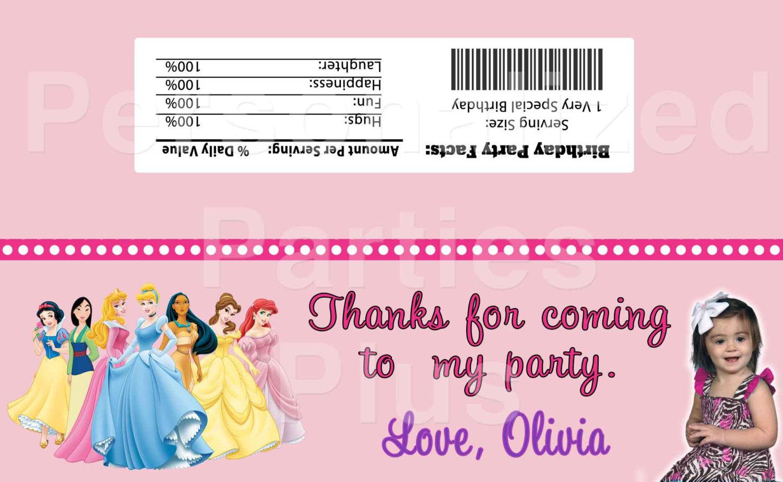 Princess favor bags for treat bag tops: Downloadable & Printable