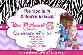 Doc McStuffins birthday Invitations: several to choose from Zebra print ... - $8.99