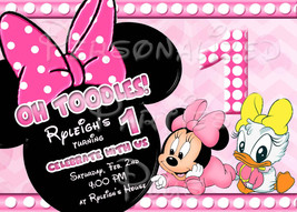 Minnie Mouse &Daisy Duck Invitations for birthday parties - $9.99