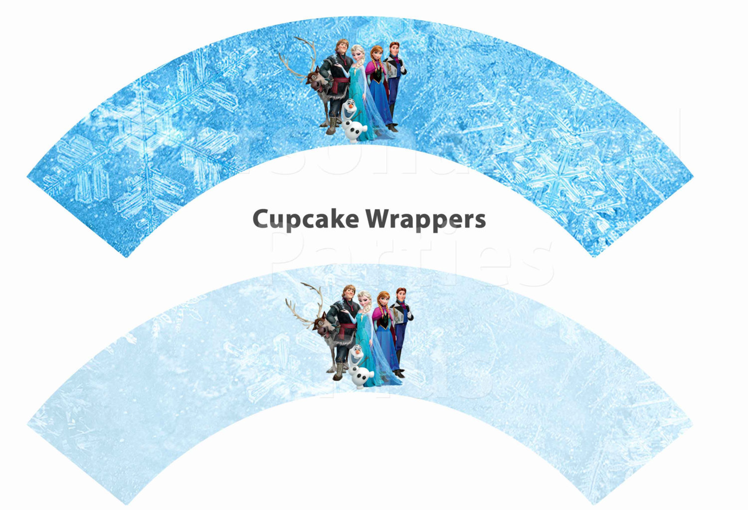 Disney's Frozen cupcake toppers and cupcake wrappers: Downloadable & Printable
