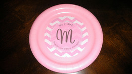 Pink chevron plates | Pink plates for birthdays or baby showers | Baby s... - $30.99