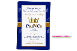 Prince baby shower invitations   Prince baby shower invites - $8.99