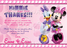 Minnie Mouse Thank you card Downloaded and personalized - $4.00