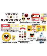 SALE: Mickey Mouse birthday party pack with banner, plates, cups, water ... - $19.99