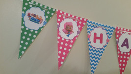 """Bubble Guppies banner that says """"Happy Birthday"""" - $12.50"""