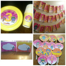 Team Umizoomi birthday package: banner, plates, cups, cupcake toppers an... - $69.99