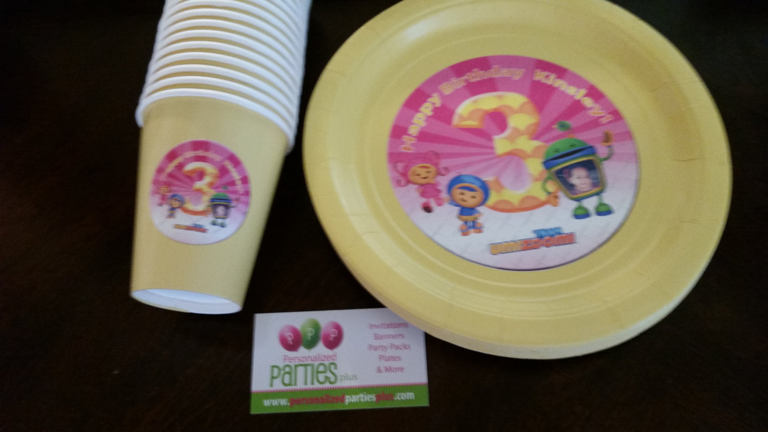 Team Umizoomi birthday package: banner, plates, cups, cupcake toppers and food t