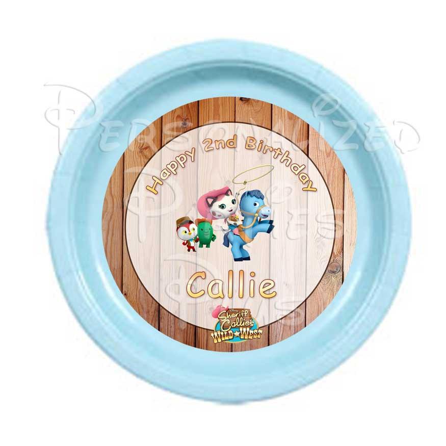 Sheriff Callie birthday plates | Sheriff Callie's Wild West plates