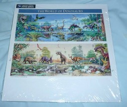 1997 32c The World of Dinosaurs Souvenir Sheet USPS Item #552700 - $15.00