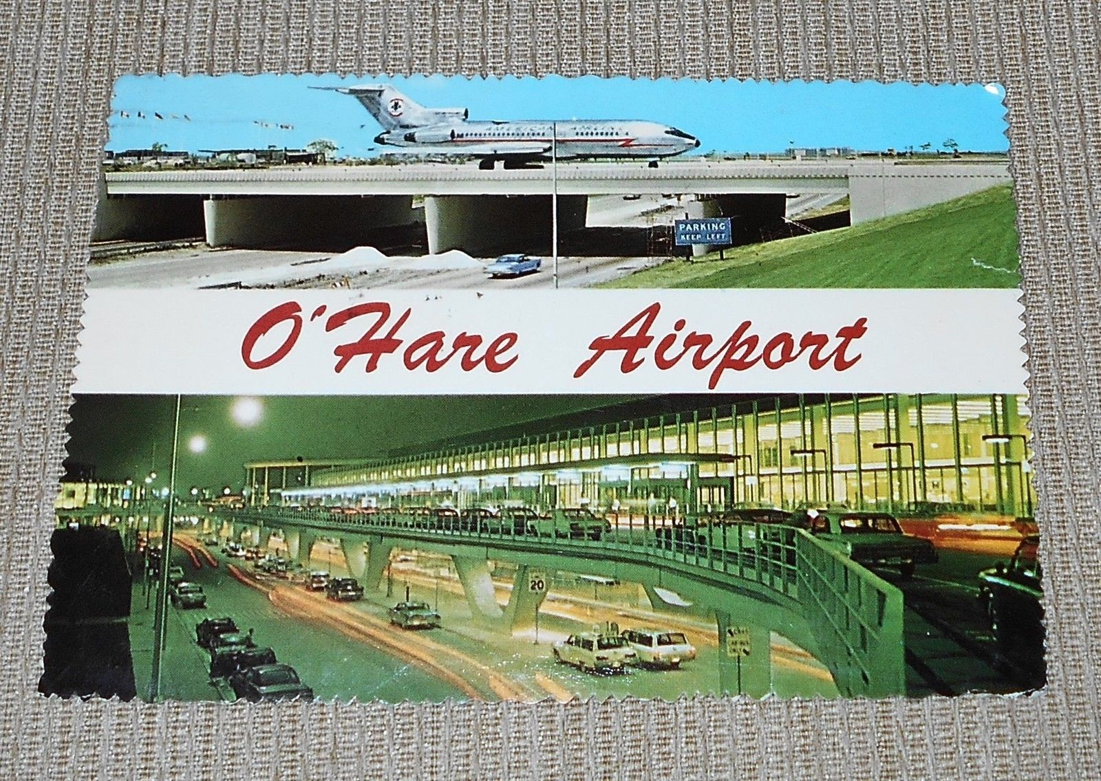 O'Hare International Airport, Chicago, IL - 2 Views - Postmarked 1974