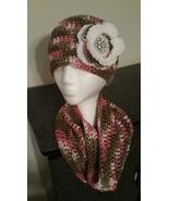 Pink Mix Handmade Crochet Flowered Hat & Cowl Set - $40.00