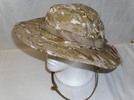 NEW - Ripstop GI Military BOONIE HAT 7 ½  DESERT MARPAT Marine Digital Camo - $18.57