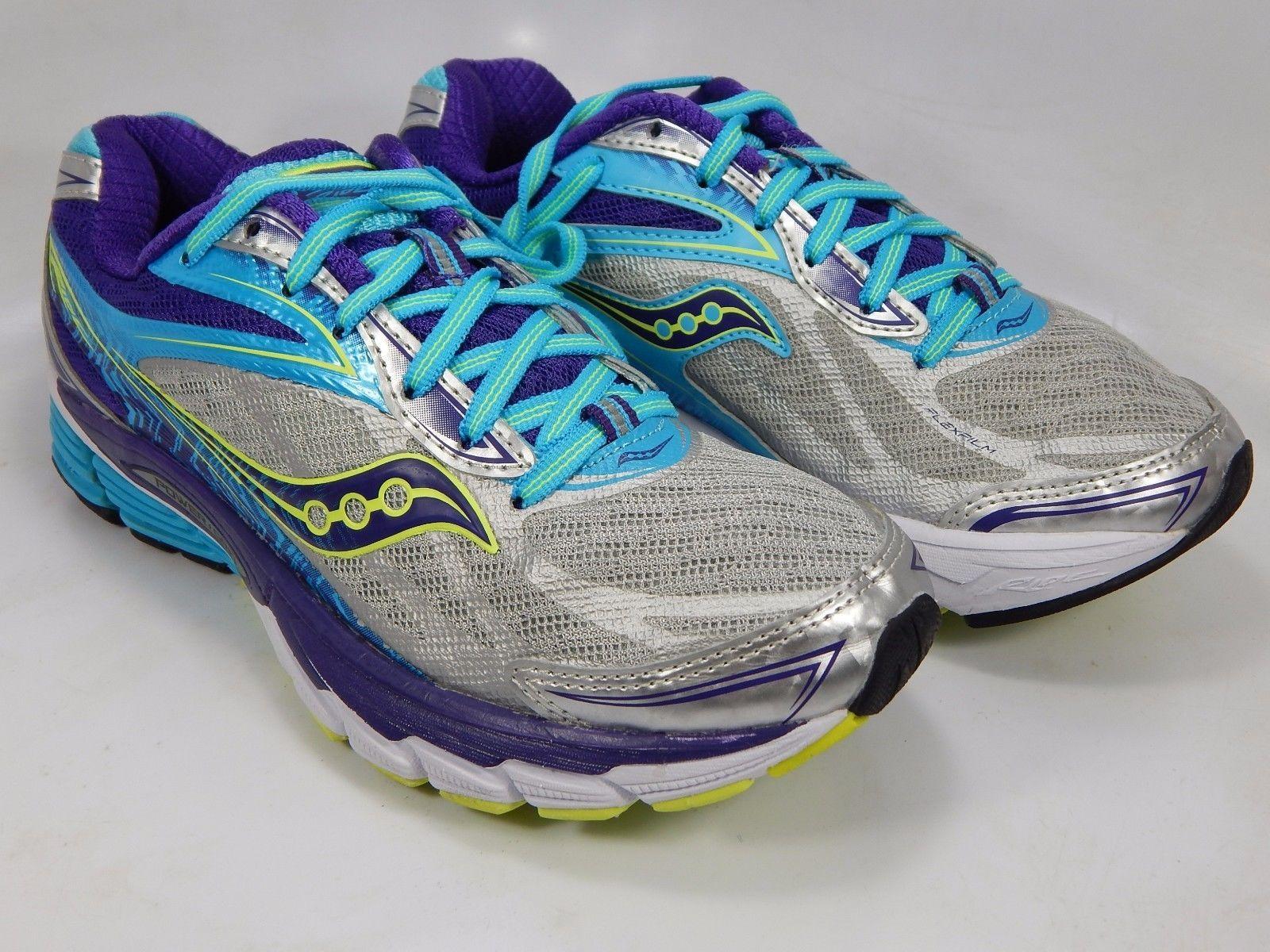 Saucony Ride 8 Women's Running Shoes Size US 7 M (B) EU 38 Silver Blue S10273-1