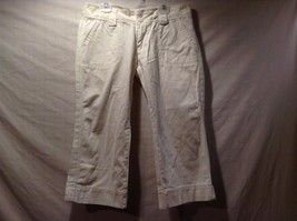 Great Condition Steve and Barry's Size 8 100% Cotton White Pants Adjustable Legs