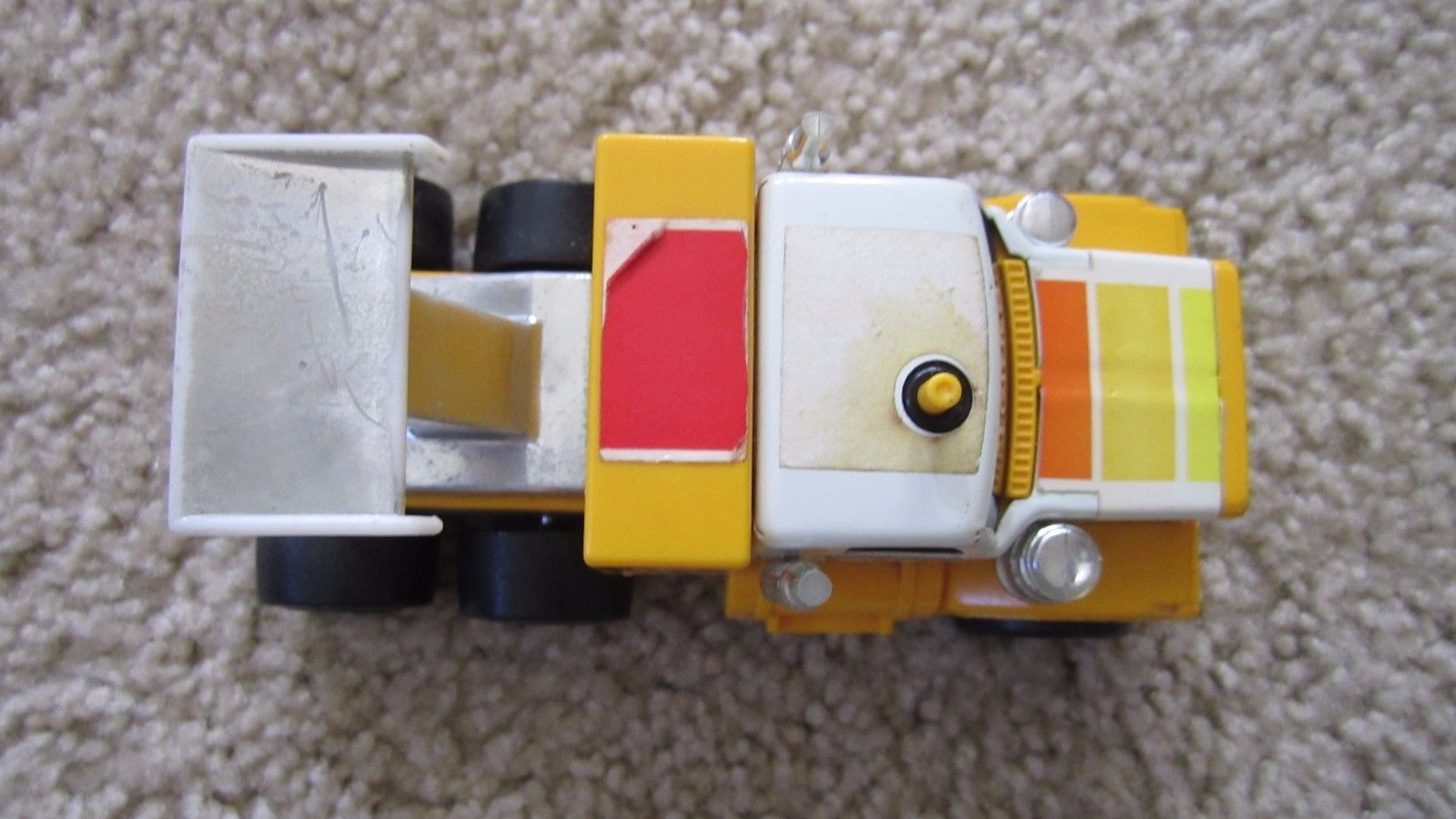 Sunny Yellow Tonka GMC Semi with Spoiler Pull Back and Go action