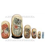 "Matryoshka nesting doll Cat2. Free worldwide shipping 6.8"" - $54.90"