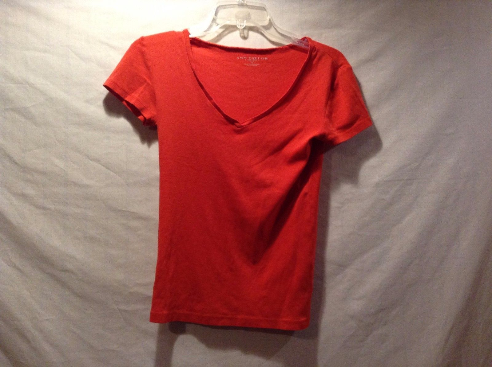Great Condition Ann Taylor Small 100% Cotton Orange T-Shirt