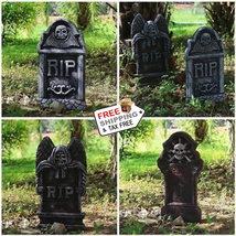5 Pack Outdoor Halloween Tombstone Decoration Scary Spooky Haunted House... - $23.98