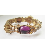 Mimi di N Faux Amethyst Cabochon Bracelet c. 1960s - $110.00