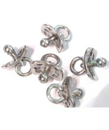 5 Baby Pacifier Pewter Charms Wholesale Lot - $9.99