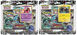 Pokemon Celestial Storm 2 Blister Packs Tapu Lele + Tapu Koko Promo Sun ... - $25.99