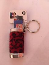 1x MINI BIC LIGHTER HOLDER- ONE COVER WITH DESIGN AND COLOR MAYBE VARY (STYLE 1)