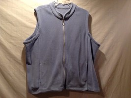 Great Condition Periwinkle Zip Jacket 2 Pockets Sleeveless - $39.59