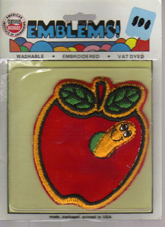 New but Vintage Apple Embroidered Iron-on!