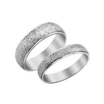 Couples Matching Titanium Steel Brushed Band Rings Free Shipping - $40.00