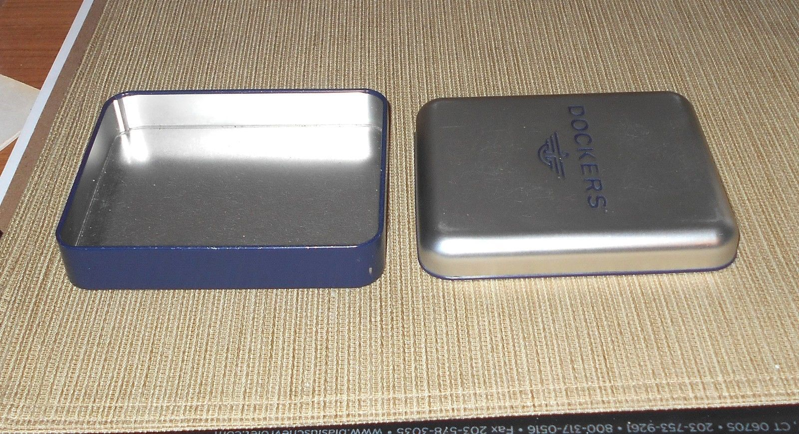Dockers Tin Blue and Silver (Empty)