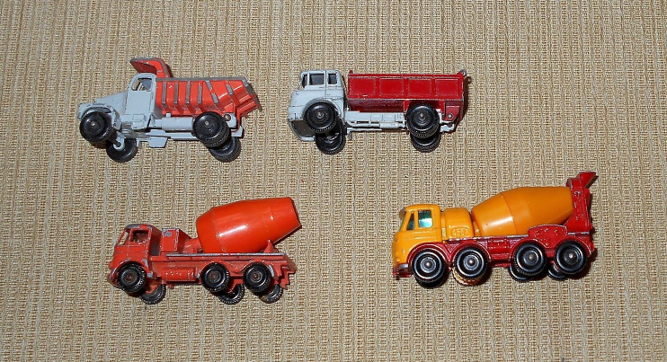 Lot/4 Lesney: Bedford Tipper, Scammell Snow Plough, Foden Cement, Foden Concrete