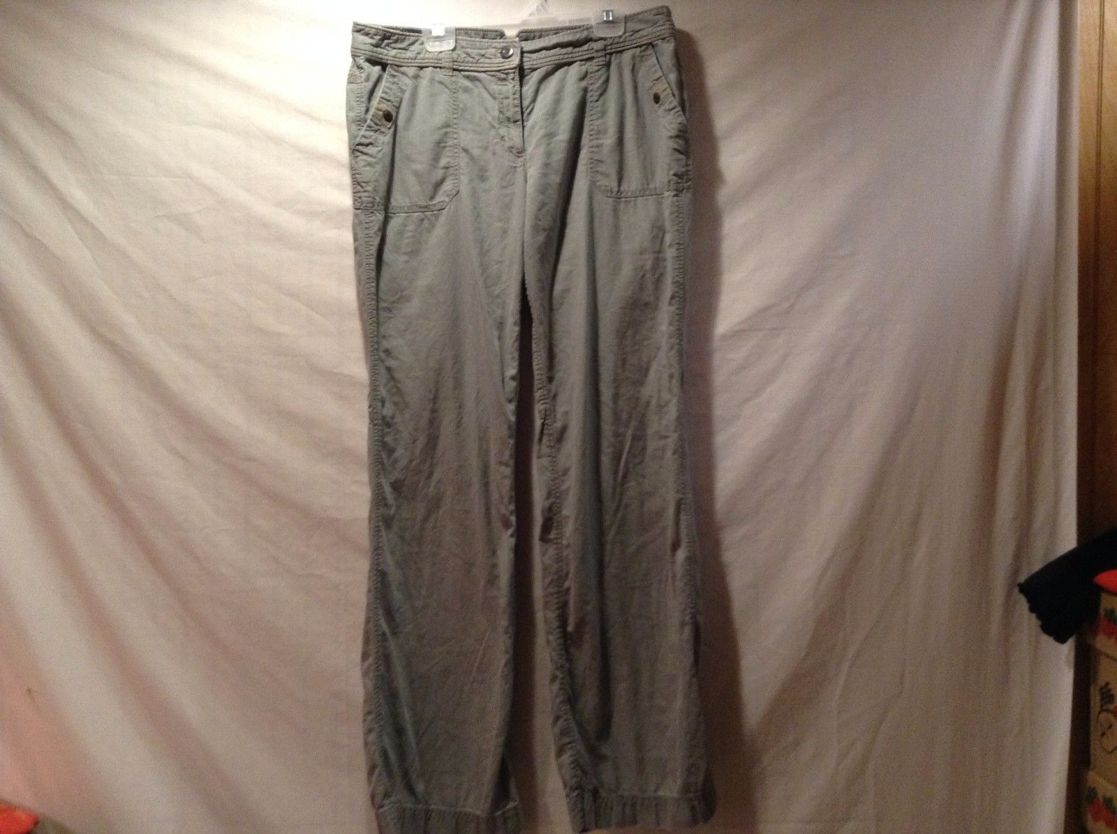 Great Condition Ann Taylor Loft Size 6 Marisa Gray Buttoned Pockets Pants