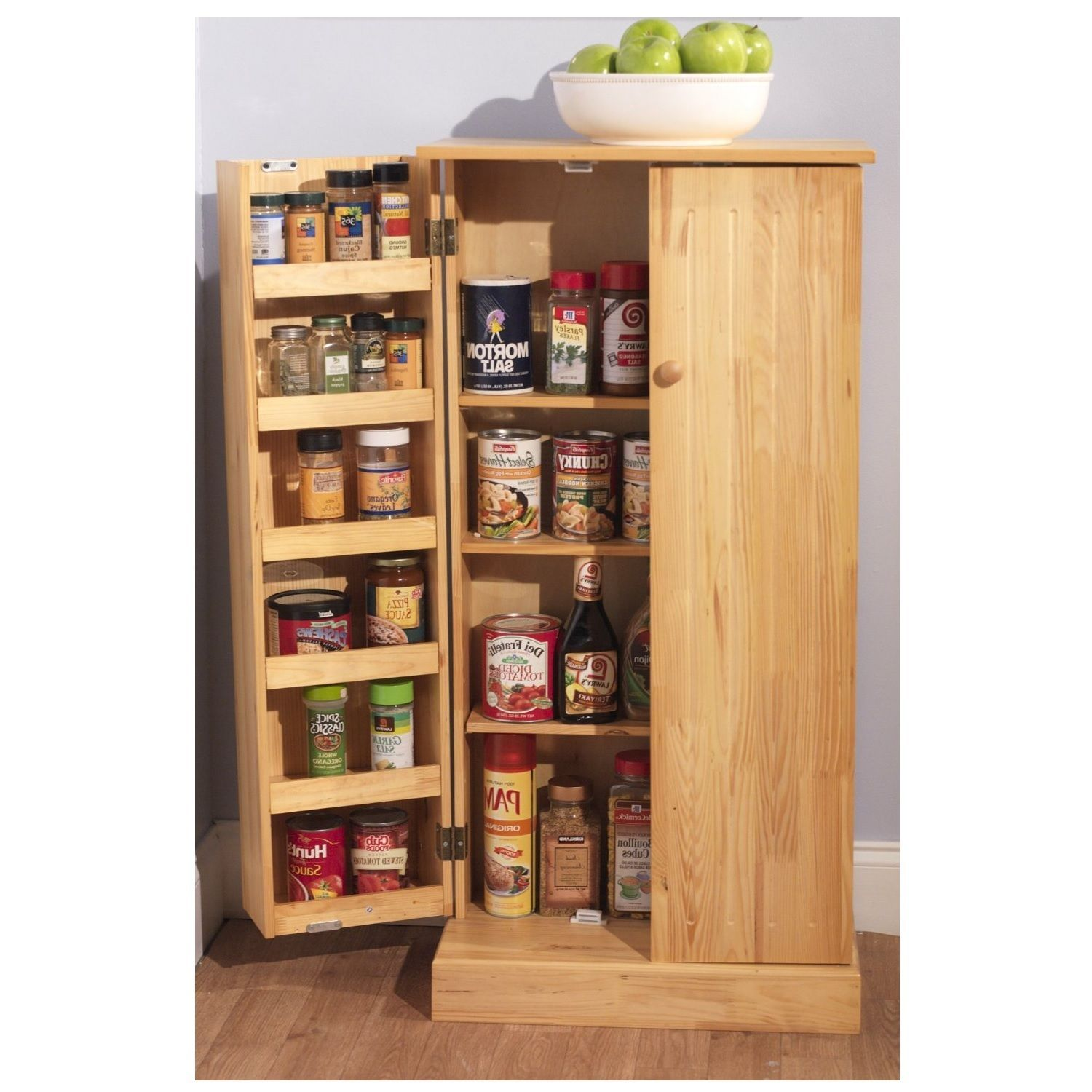 Kitchen storage cabinet pantry utility home wooden for Kitchen cabinet organizers