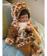 Giraffe Halloween Kids Costume Jumpsuit 12 to  24 Months Leg Snaps Dress up - $14.95