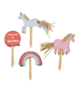 24pcs/set Unicorn Rainbow Cake Decorating Topper Supplies - $7.99