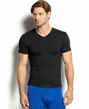 $99 POLO RALPH LAUREN Men BLACK SHORT SLEEVE V NECK STRETCH TOP TEE T SH... - $24.74