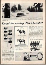 1956 Vintage Ad Chevrolet with V-8 Breaks Pikes Peak Record Chevy  - $9.28