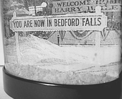 Bedford falls snow globe