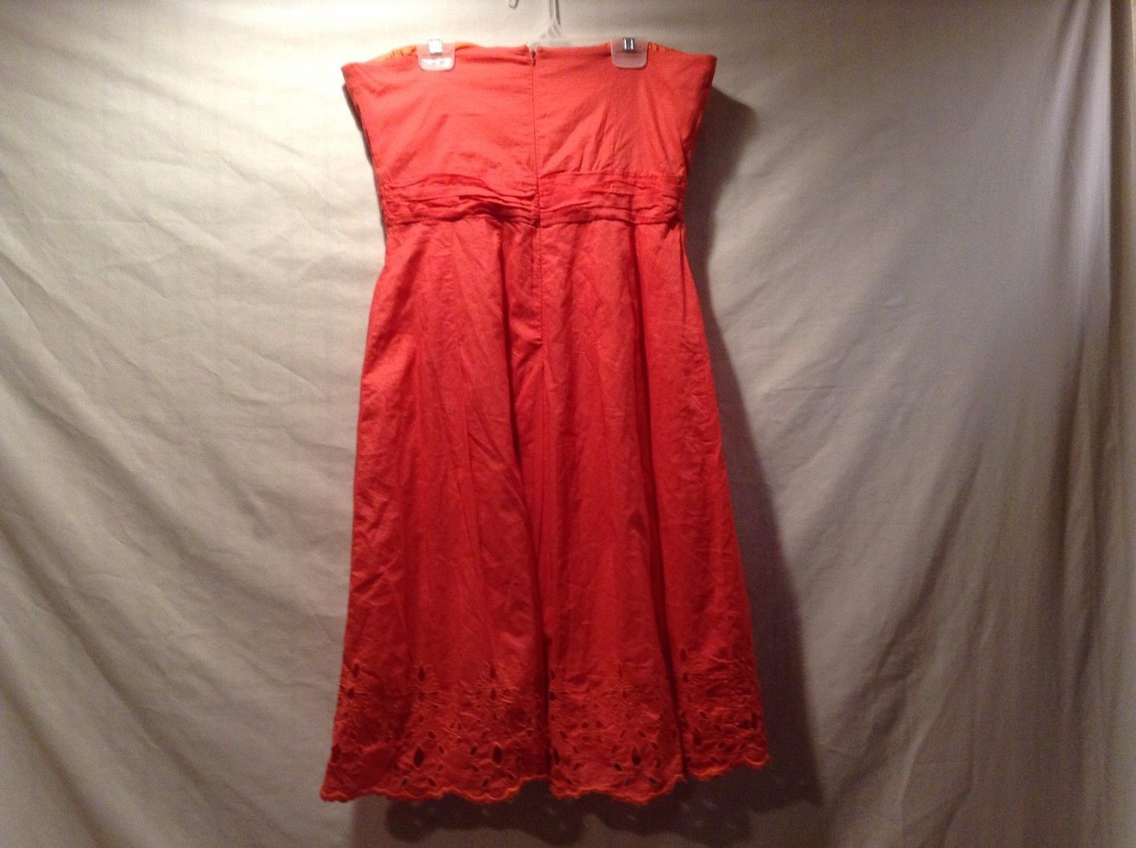 Great Condition Twenty One Medium Dress Salmon Coral Floral Hole Design