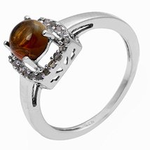 Awesome Looking Yellow Tourmaline Gemstone 92.5 Sterling Silver Ring - $26.72