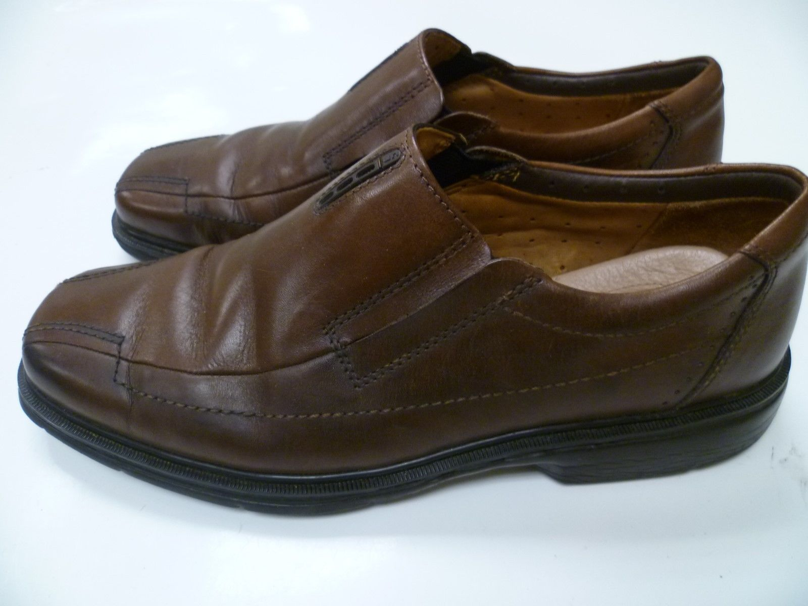 Clarks Unstructured Mens Un.Sheridan Brown Leather Casual Slip On Shoes 9  87743